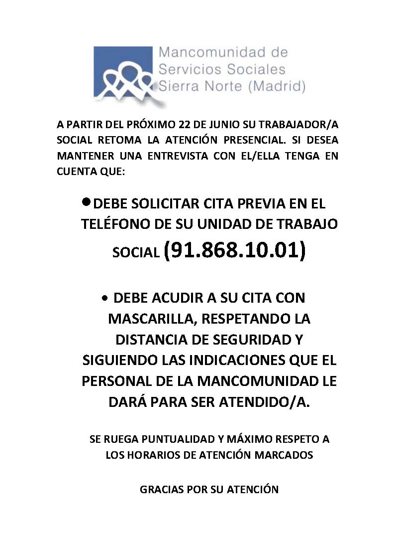 CARTEL ATENCION PRESENCIAL